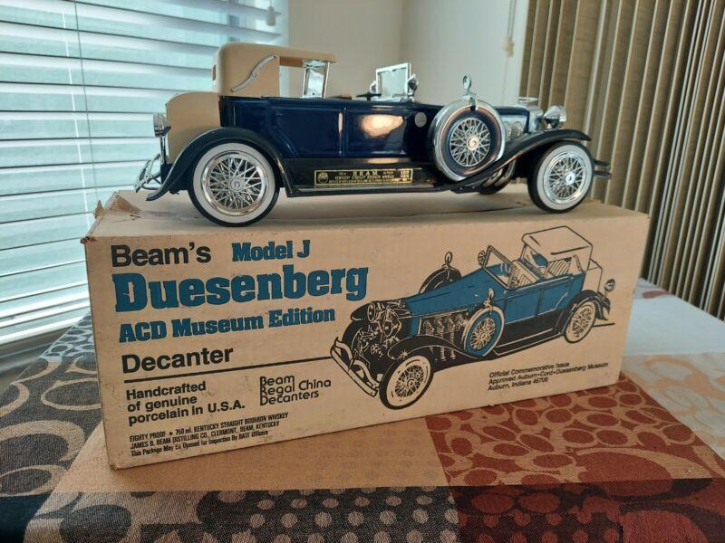 jim beam model car decanters 1934 Dark Blue Special Edition Duesenberg