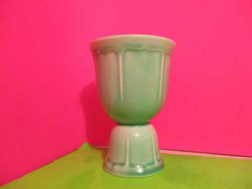 W. S. George Vintage Rainbow Egg Cup   Green