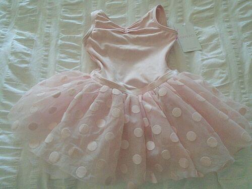NEW~CAPEZIO: Toddler Pink Polka Dot Tutu Tank Dress/#11591C/Soft, Sweet+Lovely