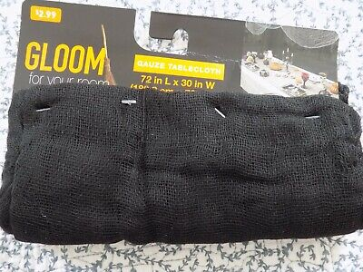 Decorating Your Room For Halloween (Halloween Gloom For Your Room Gauze Black Tablecloth ~ 72