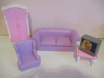 Barbie-Dollhouse Furniture-5 Piece Living Room-1996-Vintage