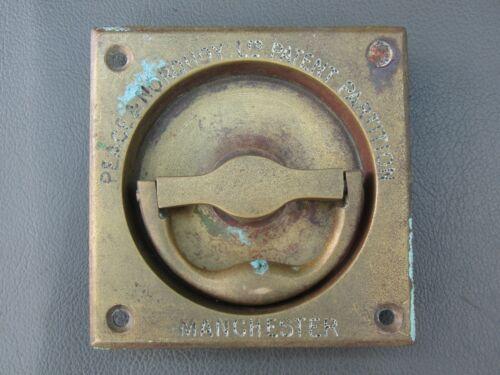 Antique or vintage brass flush handle - Peace & Norquoy Patent Partition