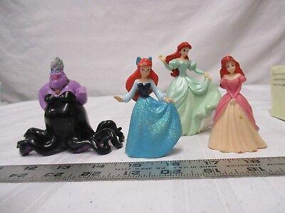 Disney little mermaid figures Ariel & Ursula pink green blue black purple red