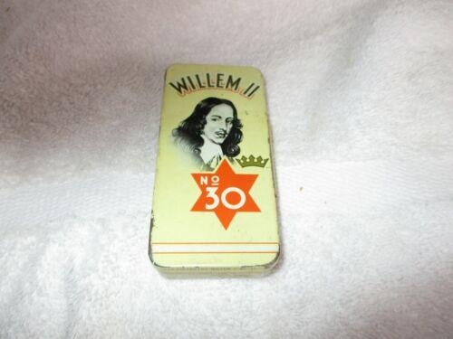 Vintage Willem II NO. 30 Cigarillo Cigar Tin