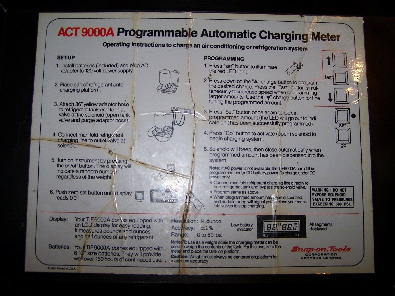 Snap On ACT9000A Automatic Programmable Charging Meter