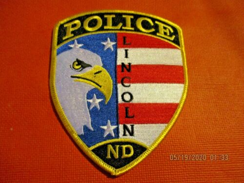 Collectible North Dakota Police Patch,Lincoln,New