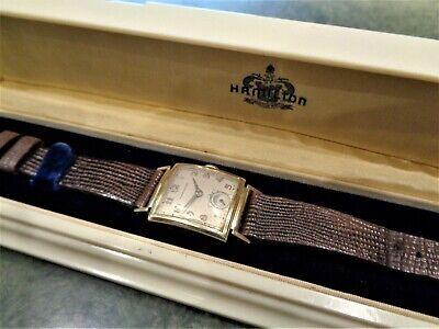 Vintage Ultra Rare Hamilton Ross Watch 14K GF 982 Cal Curvex Orig Bakelite Case