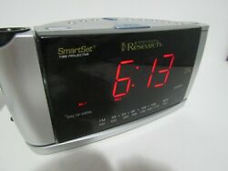 Emerson Smart Set Research CKS3516 Dual Alarm Clock AM FM Radio Time Projector