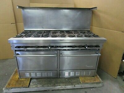Sunfire 60 X 33 X 52 10 Burner Commercial Gas Oven Stove Range