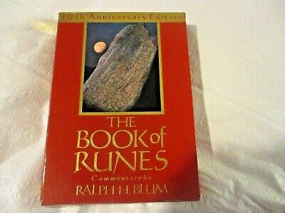 The Book of Runes Ralph Blum 1993, Hardcover, 10th Anniversary Edition No Stones