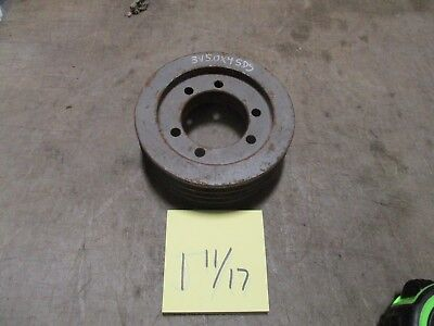 Used 4 Groove V-belt Pulley 5 Sheave 3v5.0x4sds Industrial