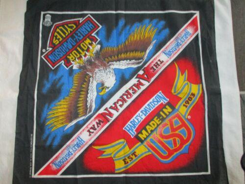 Vintage Harley-Davidson Handkerchief Bandanna Scarf Motorcycle Eagle Made in USA