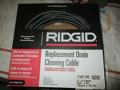 Ridgid 62260 Drain Cleaning Cable 38 In. X 35 Ft.