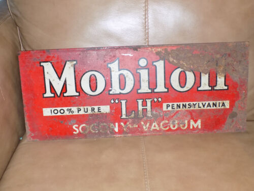 Mobiloil LH SOCONY Vacuum Rack Metal Topper Sign