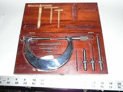 Machinist Tool Lathe Mill Tumico Micrometer Set In Case