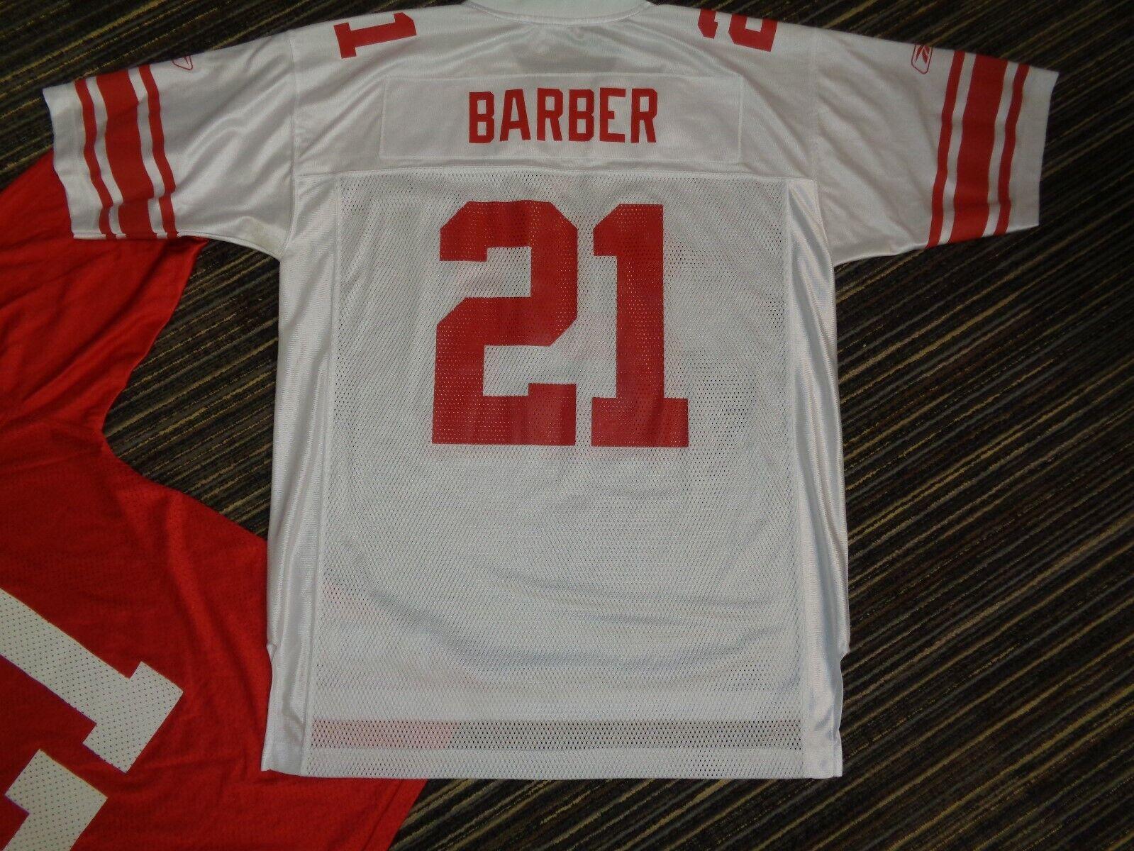 LOT 2-TIKI BARBER 21 NY NEW YORK GIANTS REEBOK NIKE NFL GAME FOOTBALL JERSEYS L - $39.99