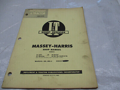 It Shop Service Manual On Massey -harris 21 Colt