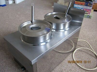 BAIN MARIE 2 PAN,ELECTRIC DRY HEAT TEMPERATURE CONTROL STAINLESS STEEL
