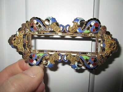 An Antique Enamel & Copper Apartment or House Door Tenant's Name Frame.