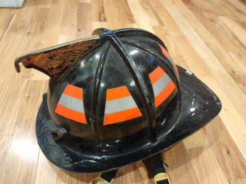Black Traditional Fire Fighter Helmet  Cairns  a