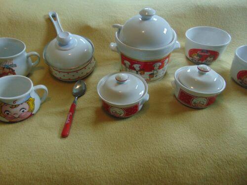 Vintage Set Of  Campbells Soup Bowls/Dishes/Mugs Ceramic -1960's-+