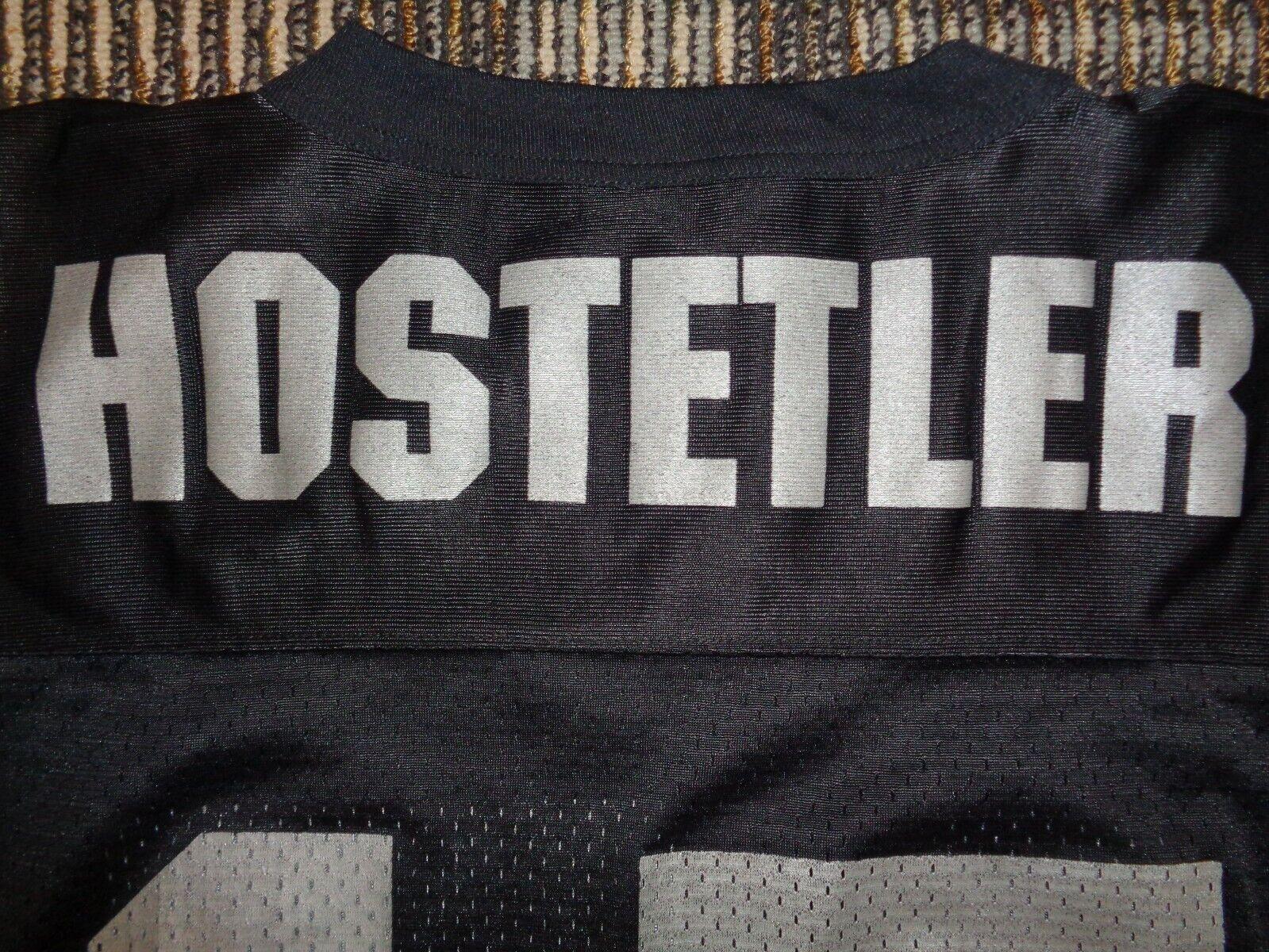 JEFF HOSTETLER 15 LOS ANGELES LAS VEGAS RAIDERS STARTER NFL GAME MENS JERSEY  - $69.99