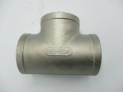 New Mb-304 150-1-12 304 Stainless Steel Tee Reducer Threaded 1-12x1-12x1-12