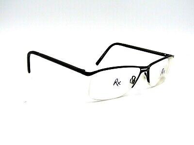 SpecSavers Denholm Men's Semi Rimless Eyeglasses Frame, Black. 58-15-140 (Specsavers Rimless Glasses)