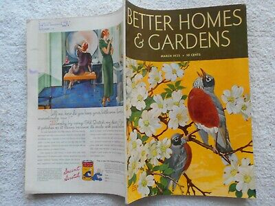 BETTER HOMES & GARDENS Magazine-MARCH,1935-LYNN BOGUE HUNT COVER