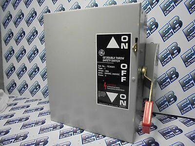 Ge Tc35321 Mod. 9 30 Amp 240 Volt 3 Pole Double Throw Switch New- Ats194