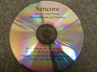 Service Manuals Test Data For Sencore Tube Testers Tc28 Tc162 Tc154 More