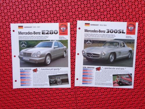 1954 / 1963 and 1995-1997 Mercedes-Benz brochures / spec sheets Lot of 2