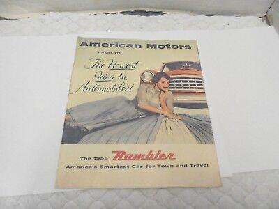 automobile dealership brochure the 1955 rambler american motors