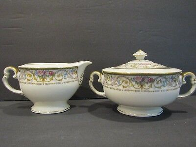 Imperial Bohemian~MONTEREY~Creamer & Sugar Bowl With Lid SET~Czechoslovakia