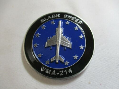 Marine Attack Squadron 214 VMA-214 Black Sheep Challenge Coin 2 / USMC