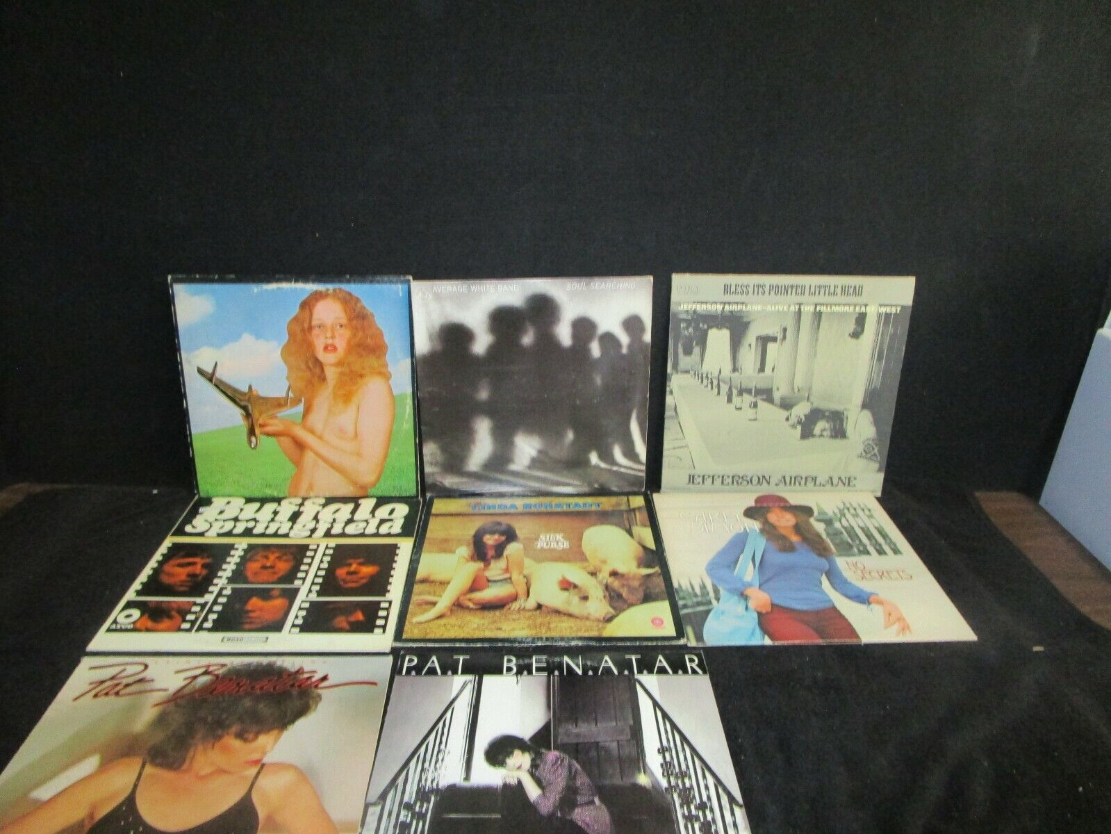 ROCK AND ROLL LOT OF 10 VINTAGE VINYL RECORDS ALBUMS PAT BENATAR  L@@K