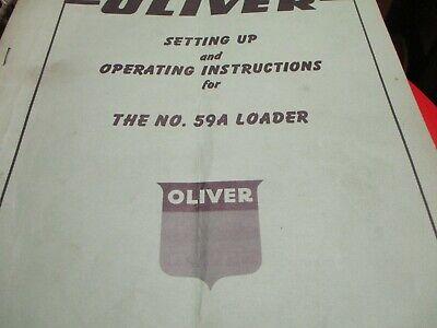 Oliver 59a Loader Operating Manual