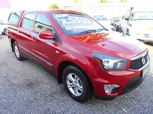 ssangyong actyon 5 speed sports dual cab utility  canopy 2012 diesel Klemzig Port Adelaide Area Preview