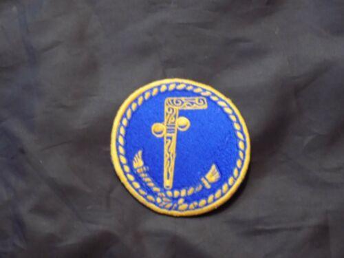 "Masonic 3""  Patch Tubal Cain Secret Password Freemason Blue Lodge NEW!"