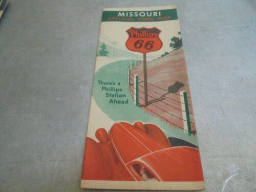 Vintage 1937 Phillips 66 Missouri Official Road Map
