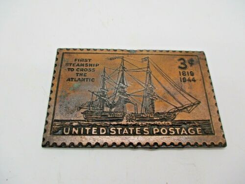 United States Postage First Steamship To Cross Atlantic Paperweight 1819-1944