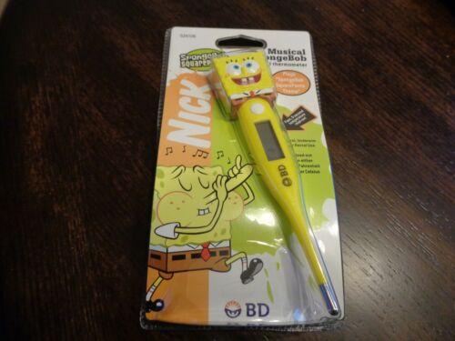 BD SpongeBob Squarepants Digital Thermometer SpongeBob  2003 ~ RARE ~ NIP