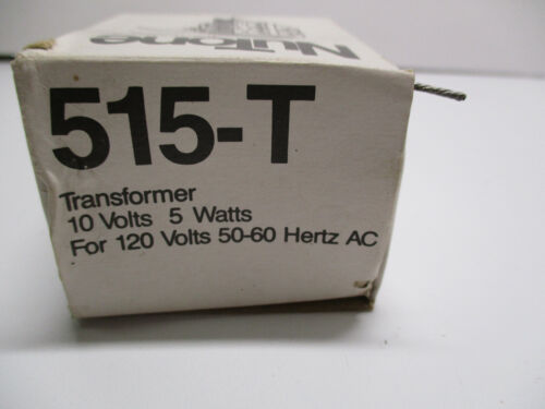 NuTone 515-T Doorbell Transformer 10-Volt 5-Watt 10V 5W for 120VAC 50/60hz   NOS