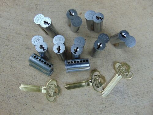 10 - BEST   CORES  WITH 3 UNCUT KEYS   7 PIN CORES  LOCKSMITH