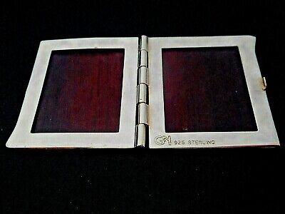 NEW OLD STK DESIGNER SIGNED GY GROOVED STERLING SILVER BI-FOLD PICTURE FRAMES