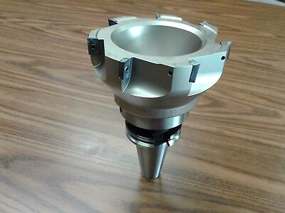 5 90 Degree Indexable Face Shell Millface Milling Cutter Apkt W. Cat40 Arbor