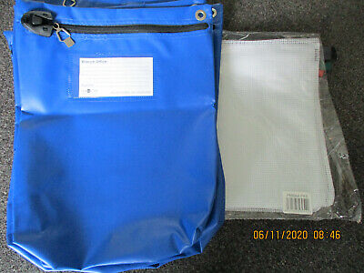 6 X Val-U-Mail Large Security Postal Mailing Pouch Bag Blue & 5 REINFORCED POUCH