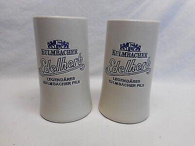 2 - 20 ounce Kulmbachen Edelherb Tapered Ceramic Steins