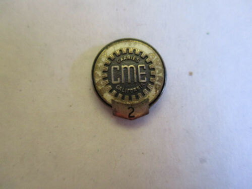 California Motor Express CME 2yr Trucking Truck Driver Employee Safety Award Pin