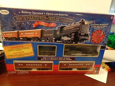 EzTec North Pole Express Christmas Train Set Battery Operated Classic Holiday
